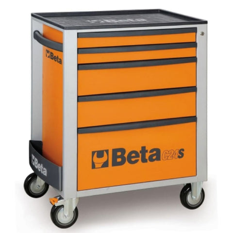 Beta Tools Mobile Roller Cabinet 5 Drawer C24S/5 Orange Roller Cabinet