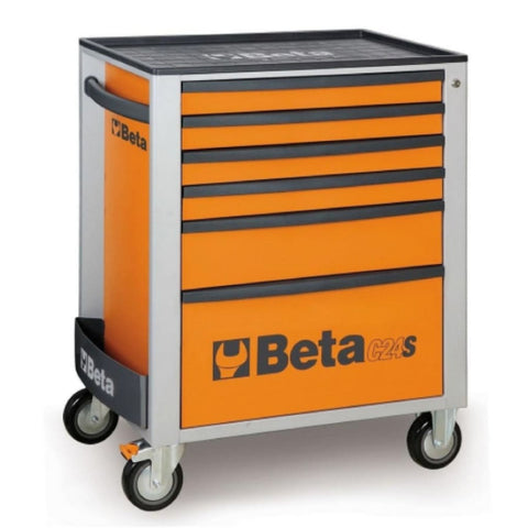 Beta Tools Mobile Roller Cabinet 6 Drawer C24S/6 Orange Roller Cabinet