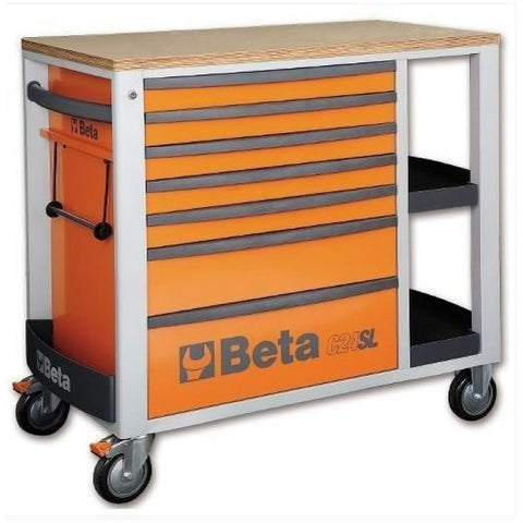 Beta Tools Mobile Roller Cabinet 7 Drawer C24Sl Orange Roller Cabinet