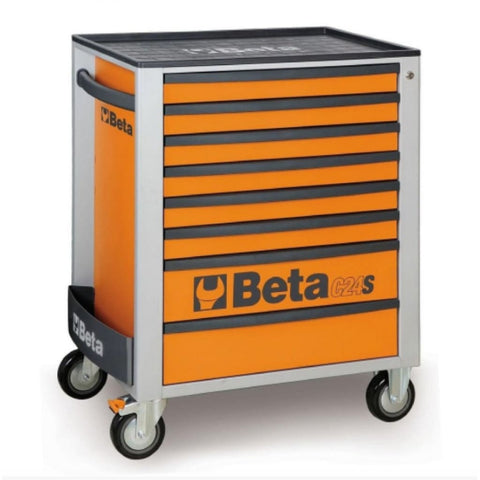 Beta Tools Mobile Roller Cabinet 8 Drawer C24S/8 Orange Roller Cabinet