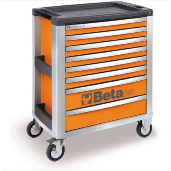 Beta Tools Mobile Roller Cabinet 8 Drawer C39 Orange Roller Cabinet