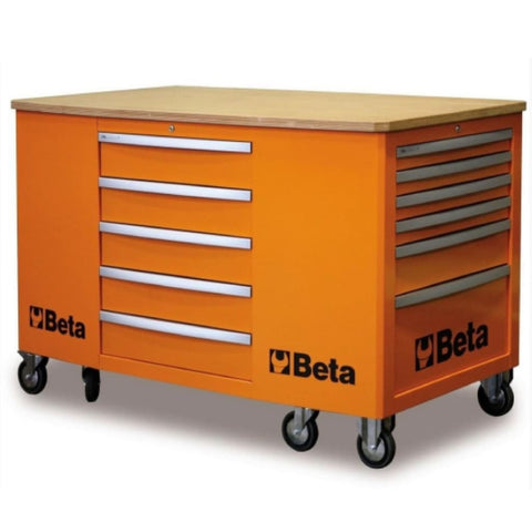 Beta Tools Mobile Workstation 28 Drawer C31 Orange Workbench