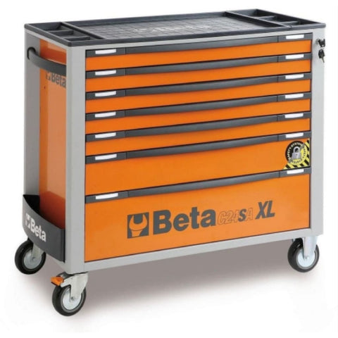 Beta Tools Roller Cabinet 7 Drawer Long C24Sa-Xl Orange Roller Cabinet