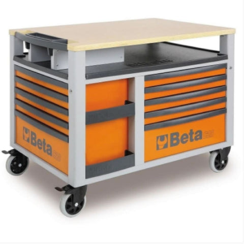 Beta Tools Supertank Trolley 10 Drawer C28 Orange Trolley