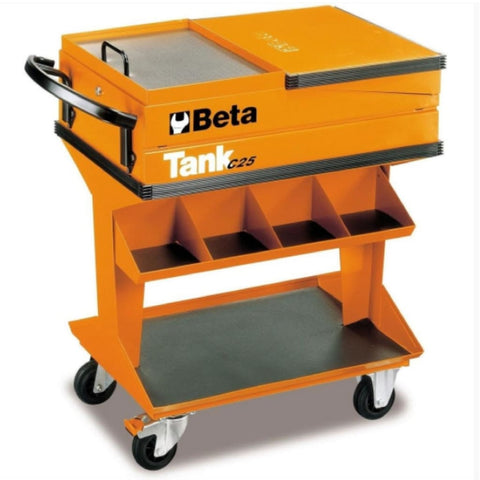 Beta Tools Tank Trolley With Shelf C25 Trolley
