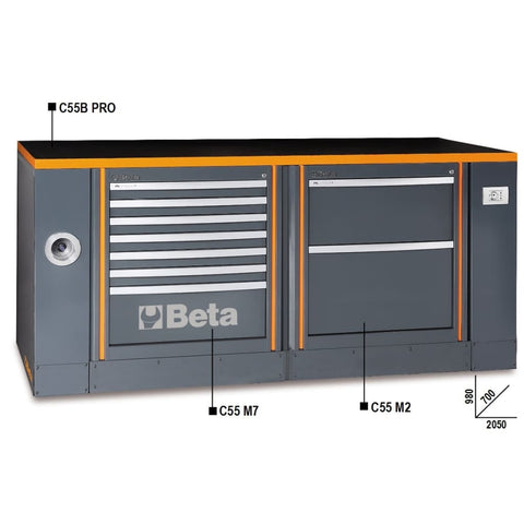 Beta Tools Workbench C55B Pro/1 M7+M2 Workbench