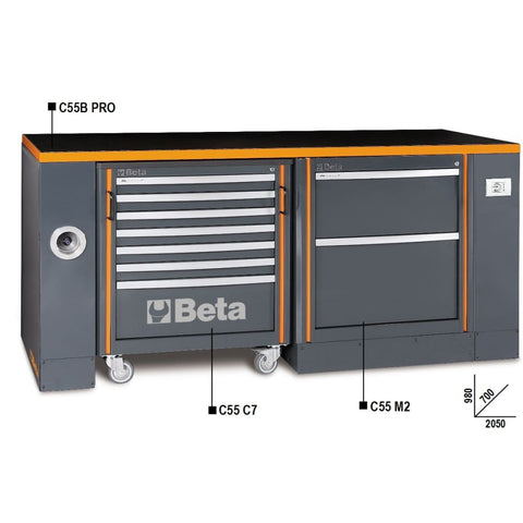 Beta Tools Workbench C55B Pro/3 C7+M2 Workbench