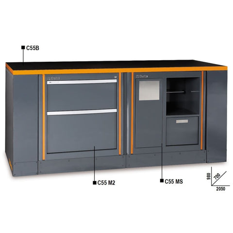 Beta Tools Workbench C55B/2 M2+Ms Workbench