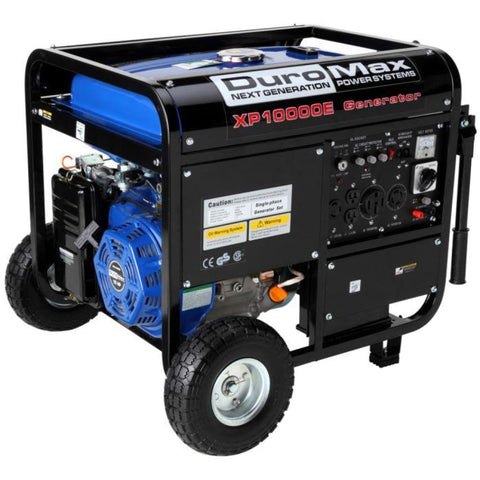 Duromax 10000-Watt 18-Hp Portable Gas Electric Start Generator Rv Home Standby Xp10000E Gas Powered Generators