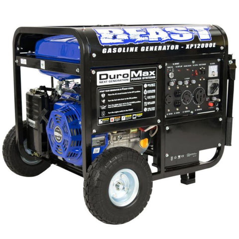 Duromax 12000 Watt 18 Hp Portable Gas Generator Xp12000E Gas Powered Generators