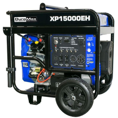 DuroMax 15000-Watt V-Twin Electric Start Dual Fuel Hybrid ...