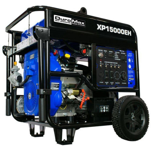 Duromax 15000-Watt V-Twin Electric Start Dual Fuel Hybrid Portable Generator Xp15000Eh Dual Fuel Generators