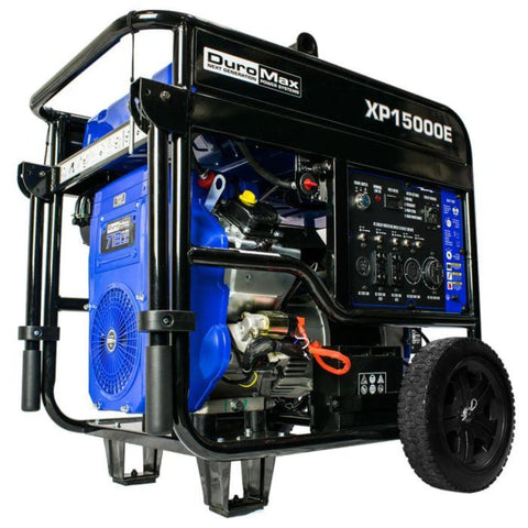 Duromax 15000-Watt V-Twin Gas Powered Electric Start Portable Generator Xp15000E Gas Powered Generators