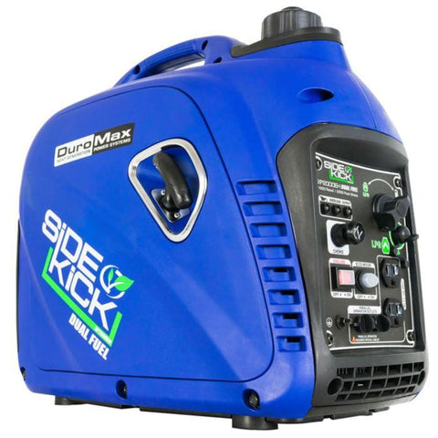 Duromax 2000-Watt Dual Fuel Digital Inverter Hybrid Portable Generator Xp2000Eh Dual Fuel Generators