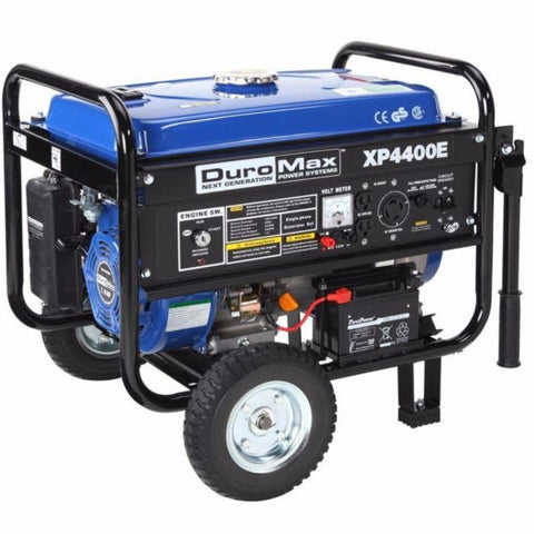 Duromax 4400-Watt 7-Hp Rv Grade Gas Generator W/ Electric Start And Wheel Kit Xp4400E Gas Powered Generators