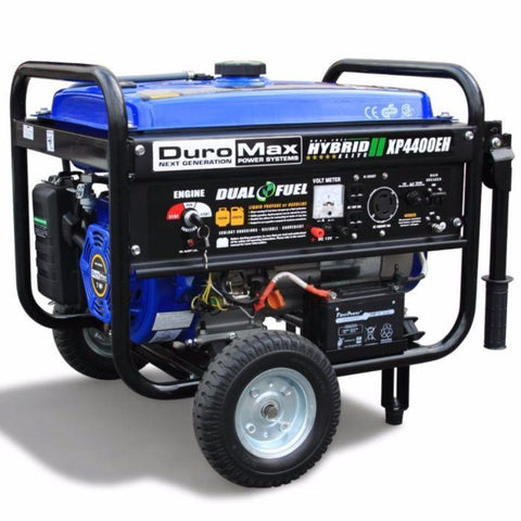Duromax 4400-Watt Electric Start Dual Fuel Hybrid Portable Generator Xp4400Eh Dual Fuel Generators