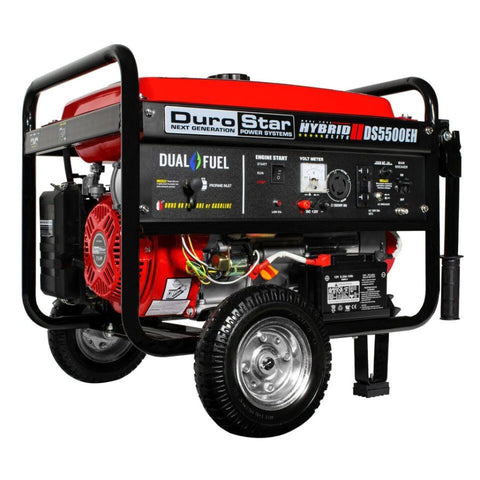 Duromax 5500-Watt Electric Start Dual Fuel Hybrid Portable Generator Ds5500Eh Dual Fuel Generators