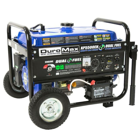 Duromax 5500-Watt Electric Start Dual Fuel Hybrid Portable Generator Xp5500Eh Dual Fuel Generators