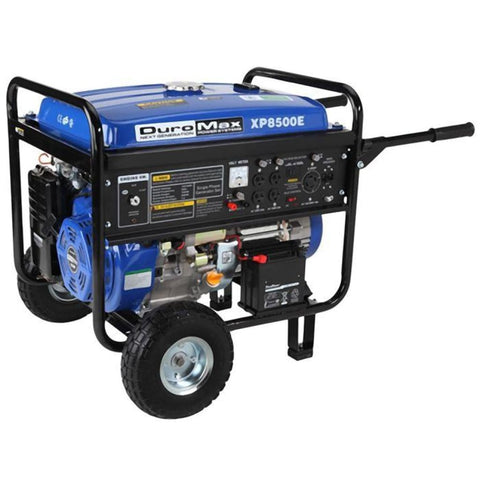 Duromax-Watt 16-Hp Gas Generator W/ Elect Start And Wheel Kit Xp8500E Gas Powered Generators