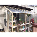 Essex Clear View Lincoln 6ft W x 16ft L x 5 ft H Lean to Greenhouse 6/16L5 Essex Clear View Lincoln Greenhouse
