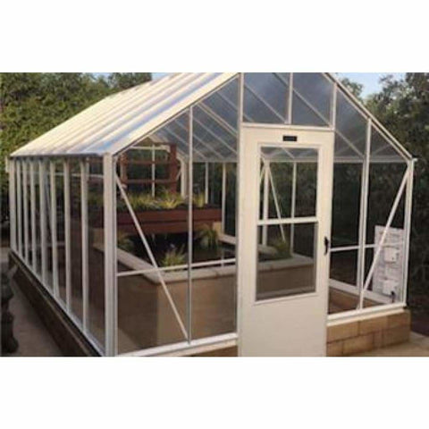 Essex Clear View Lincoln 8ft W x 24ft L x 5 ft H Lean to Greenhouse 8/24L5 Essex Clear View Lincoln Greenhouse