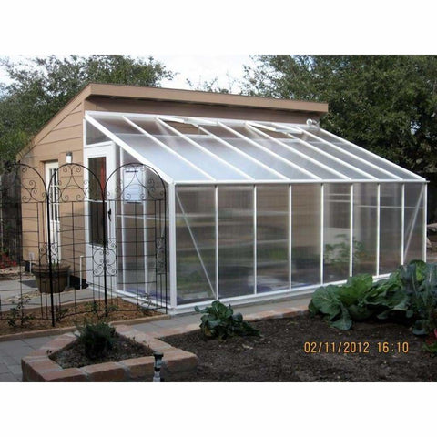 Essex Lincoln 8 ft W x 16 ft L x 5 ft H Lean to Greenhouse 8/16L5 Essex Lincoln Lean To Greenhouse