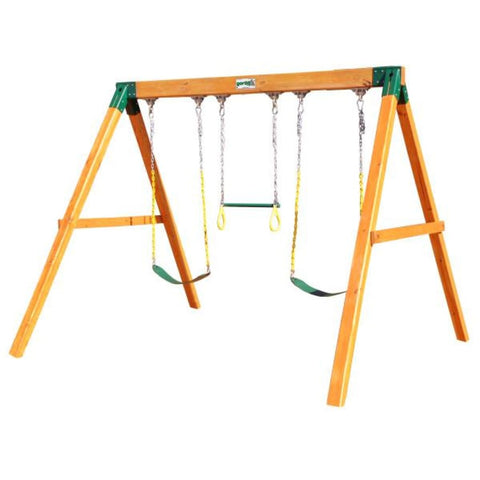 Gorilla Playsets 3 Position Swing Station Amber Stained Cedar 01-0002 Gorilla Playsets Free Standing Additions