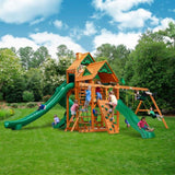Gorilla Playsets Great Skye II w/ Amber Posts and Standard Wood Roof 01-0031-AP Gorilla Swing Sets