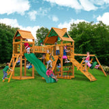 Gorilla Playsets Pioneer Peak w/ Amber Posts and Standard Wood Roof 01-0006-AP Gorilla Swing Sets