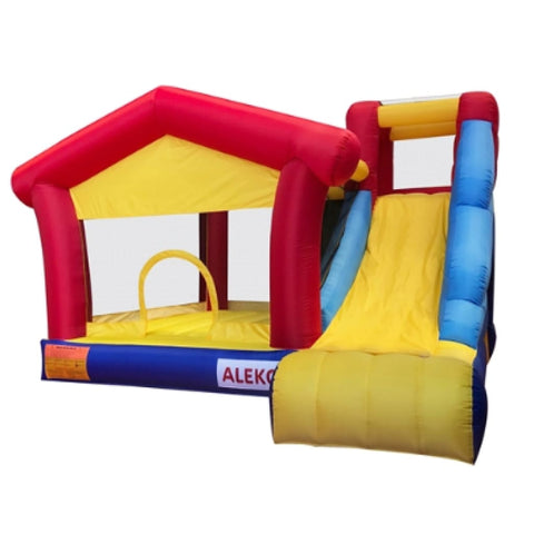 Inflatable Playtime 4-In-1 Bounce House with Double Wide Slide and Basketball Rim BHPGROUND-AP Inflatable Bounce Houses