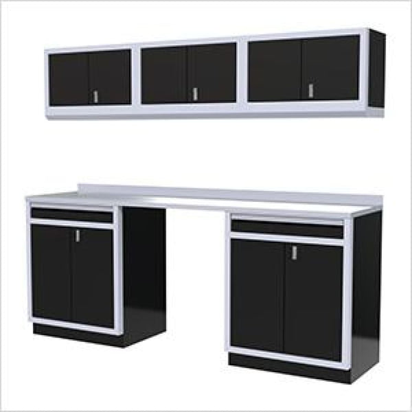 Moduline Pro 7 Piece Cabinet Combination Pgc008-062 Black Garage Furniture Combination