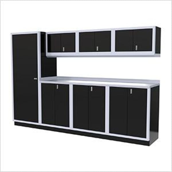 Moduline Pro 8 Piece Piece Cabinet Combination Pgc010-022 Black Garage Furniture Combination