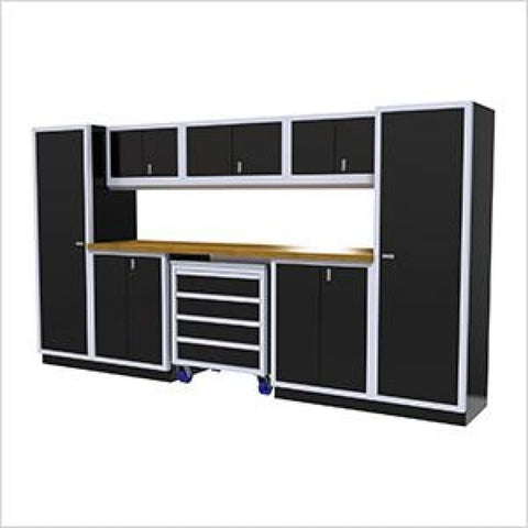 Moduline Pro 9 Piece Cabinet Combination Pgc012-042 Black Garage Furniture Combination