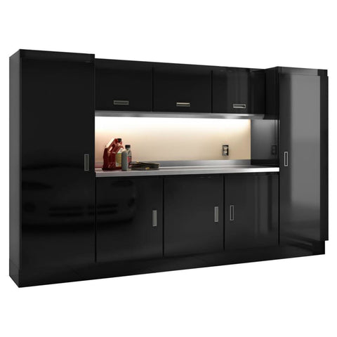 Moduline Select Series 10 Wide Garage Cabinet Combination Segc010-010 Black Select Series