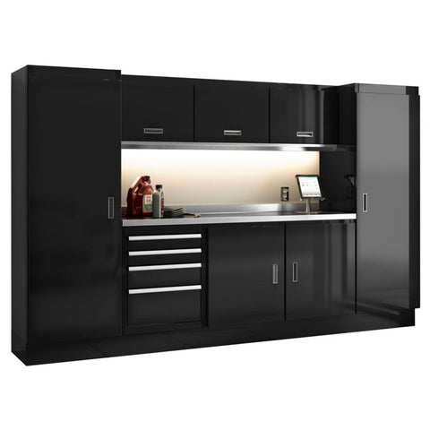 Moduline Select Series 10 Wide Garage Cabinet Combination Segc010-020 Black Select Series