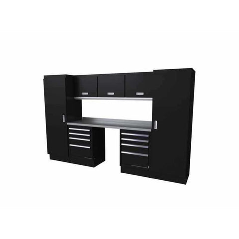 Moduline Select Series 10 Wide Garage Cabinet Combination Segc010-030 Black Select Series