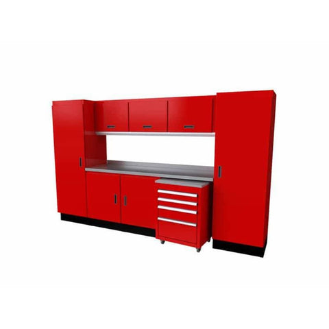 Moduline Select Series 10 Wide Garage Cabinet Combination Segc010-040 Red Select Series
