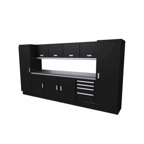 Moduline Select Series 12 Wide Garage Cabinet Combination Segc012-010 Black Select Series
