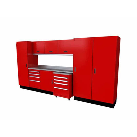 Moduline Select Series 12 Wide Garage Cabinet Combination Segc012-030 Red Select Series
