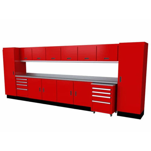 Moduline Select Series 16 Wide Garage Cabinet Combination Segc016-030 Red Select Series