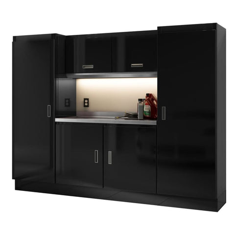 Moduline Select Series 8 Wide Garage Cabinet Combination Segc008-020 Black Select Series