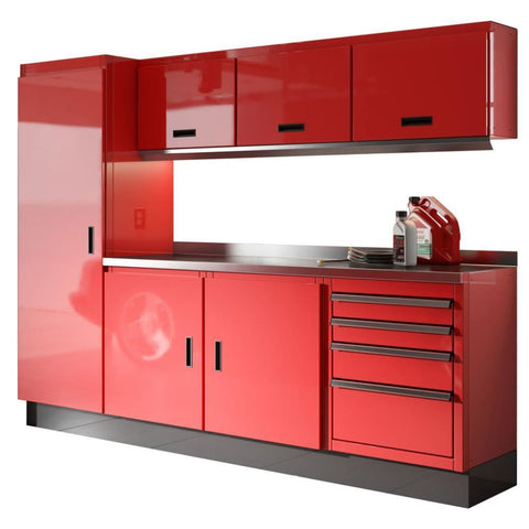 Moduline Select Series 8 Wide Garage Cabinet Combination Segc008-030 Red Select Series
