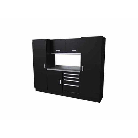 Moduline Select Series 8 Wide Garage Cabinet Combination Segc008-040 Black Select Series
