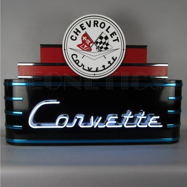 Neonetics Art Deco Marquee Corvette Neon Sign In Steel Can 9Adcor Neon Signs