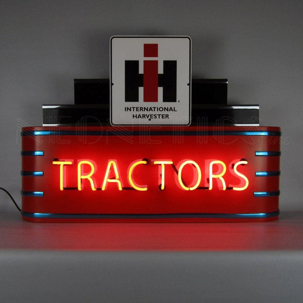 Neonetics Art Deco Marquee Ih Tractors Neon Sign In Steel Can 9Adiht Neon Signs
