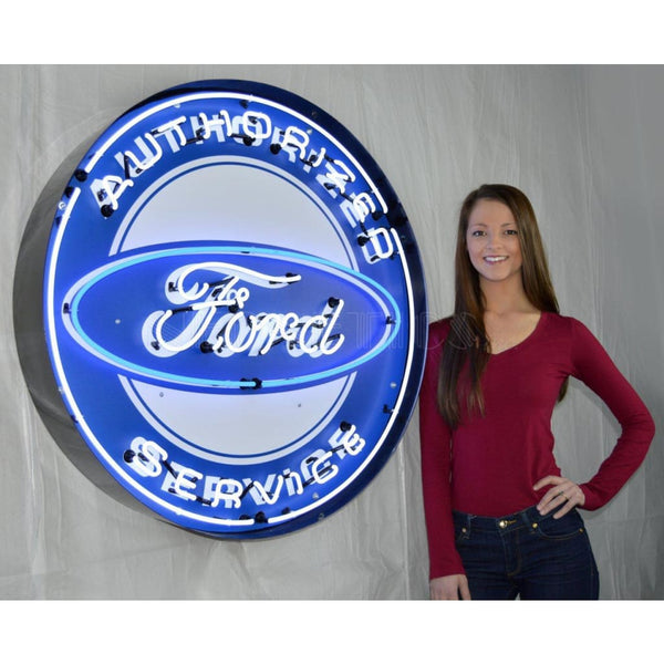 Neonetics Authorized Ford Service 36 Inch Neon Sign In Metal Can 9Frdbk Neon Signs