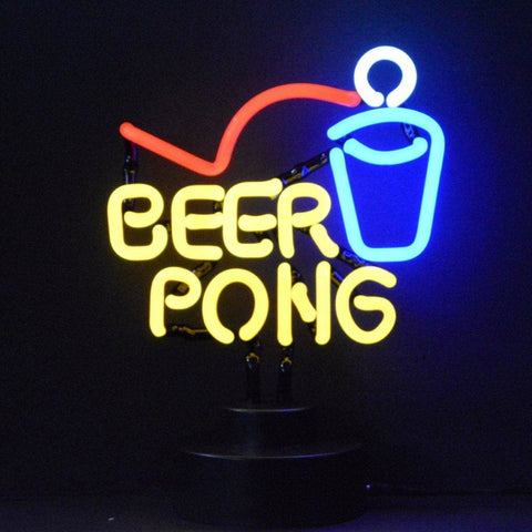 Neonetics Beer Pong Neon Sculpture 4Beerp Neon Signs
