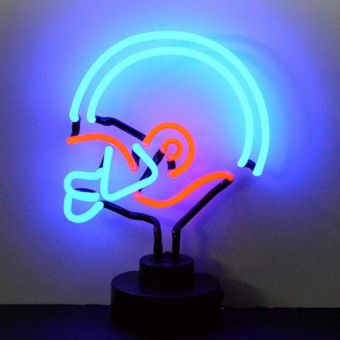 Neonetics Blue/red Football Helmet Neon Sculpture 4Brhel Neon Signs