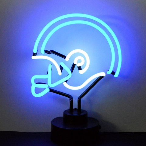 Neonetics Blue/white Football Helmet Neon Sculpture 4Bwhel Neon Signs