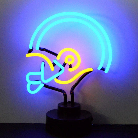 Neonetics Blue/yellow Football Helmet Neon Sculpture 4Byhel Neon Signs